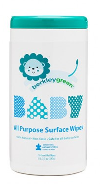 Berkley Green Baby All Purpose Surface Wipes