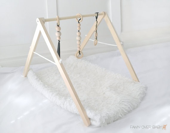 Fawn Over Baby Wooden Play Gym