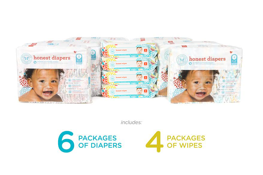 Honest Diapers and Wipes Bundle