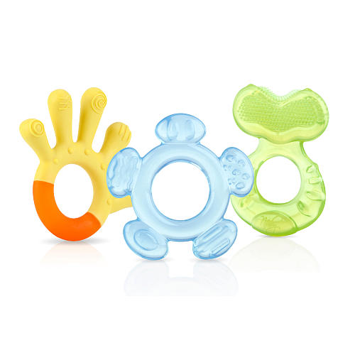Nuby 3-Step Gel Teether Set