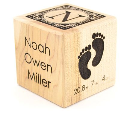 Personalized Baby Block