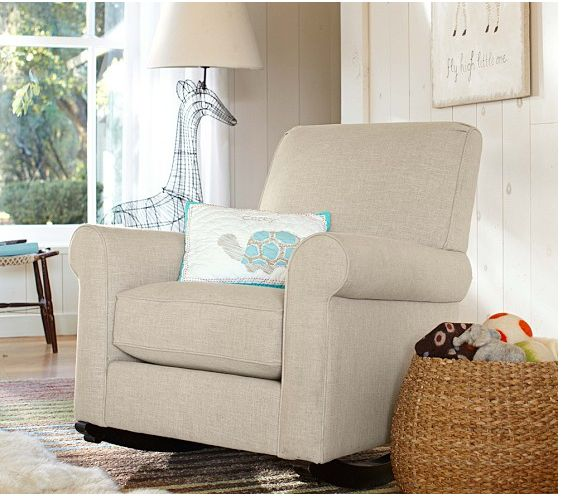 Pottery Barn Kids Charleston Upholstered Convertible Rocker