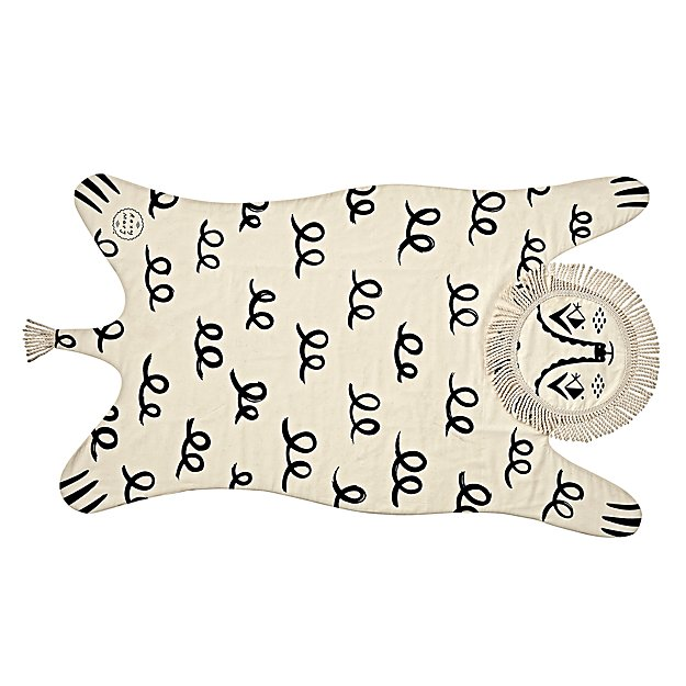 Land of Nod Roxy Marj Lion Blanket