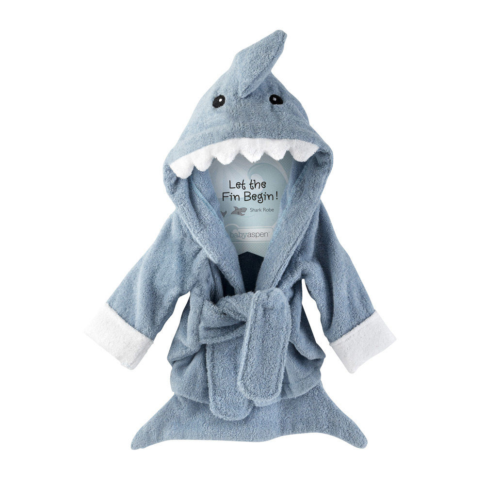 Terry Shark Bath Robe