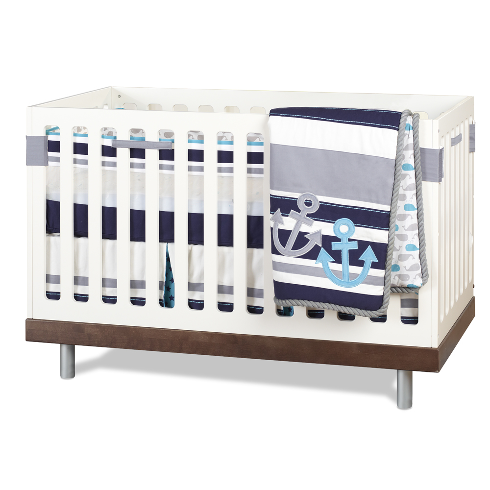 Just Born 174 High Seas Bedding Collection 3 Piece Crib Set