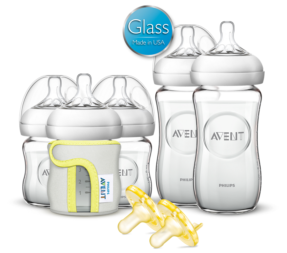 Philips AVENT Natural Glass Bottle Set
