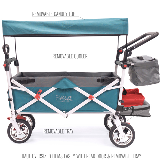 Push Pull Silver Series Folding Wagon Stroller