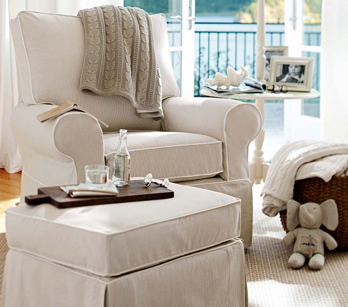 Pottery Barn Comfort Swivel Rocker