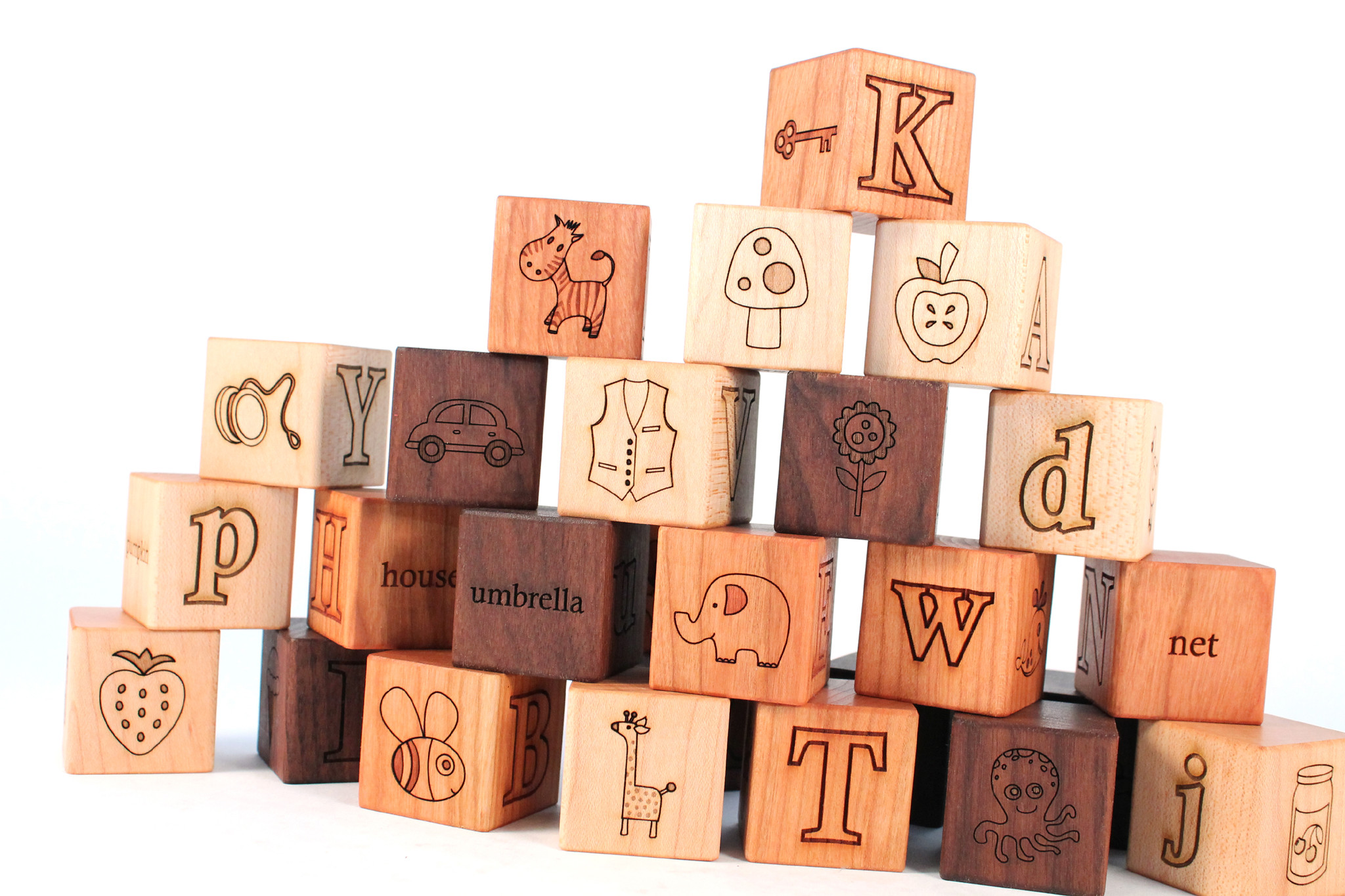Wooden picture Alphabet block