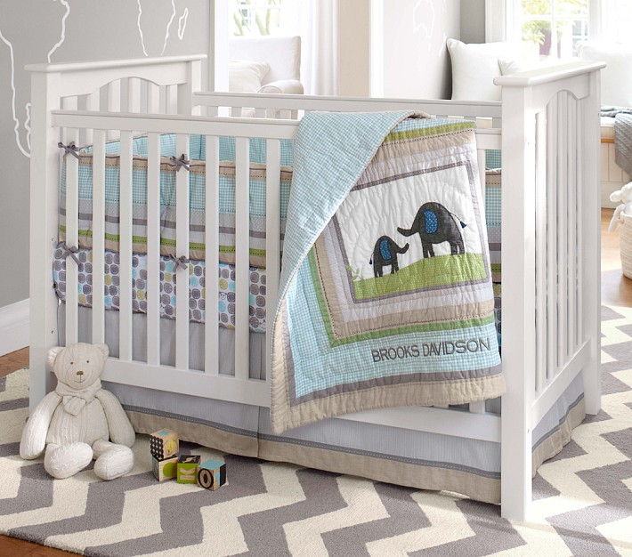 Pottery Barn Kids Kendall Low-Profile Fixed Gate Convertible Crib