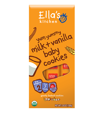 Ella's Kitchen Yum Yummy Milk & Vanilla Baby Cookies